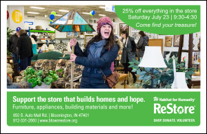 ReStore 25% off Everything Sale @ Habitat ReStore | Bloomington | Indiana | United States