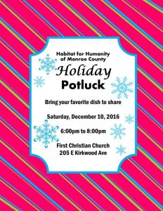 Holiday Potluck @ First Christian Church | Bloomington | Indiana | United States