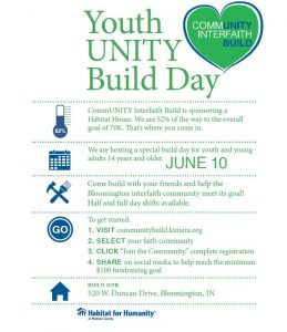 Youth UNITY BUILD Day @ Bloomington | Indiana | United States